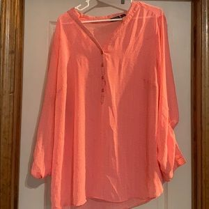 A.N.A hot pink three quarter length blouse